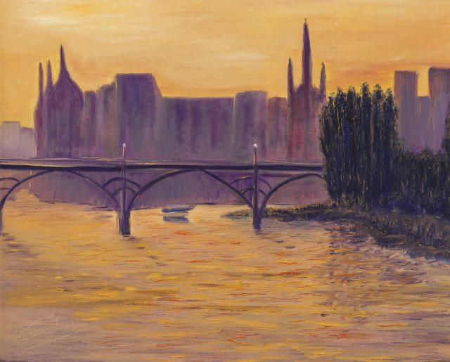 Paris, Sunset on La Seine 1, 2002