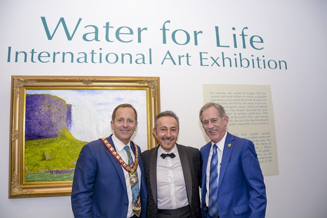 Wayne Redekop, Mayor Fort Erie at the Water For Life - International Art Exhibition - May 12 2018
