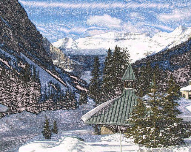 Winter Scenes Lake Louise Alberta 30