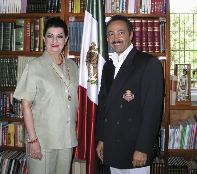 The Hounorable Addy Joaquín Coldwell, Senator of the Republic of México, for the State of Quintana Roo, and also Patron of Antoine Gaber