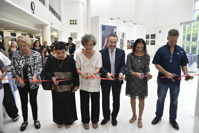 Water for life, Exposición Internacional de Arte, Tercera Edición, Cancún, Quintana Roo, México. Actos de apertura de la exposición.