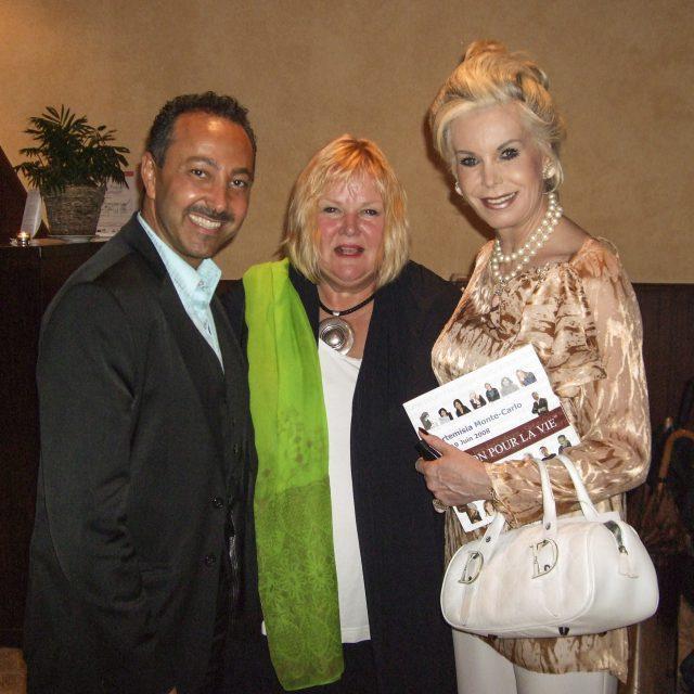 Antoine Gaber, with Artist Betty Jonker and Princess Camilla Di Borbone