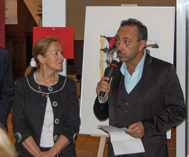Impressionist Artist Painter Antoine Gaber during the exclusive inauguration of the PASSION FOR LIFE Fundraising vernissage held at La Rose des Vents in Plage du Larvotto, Monaco