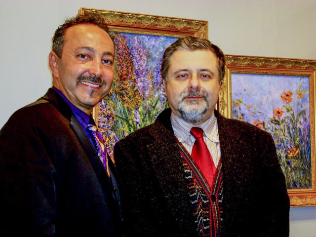 Prof. Giampaolo Trotta, Art Critic, Exhibition curator, Florence, Italy, with impressionist artist painter Antoine Gaber.