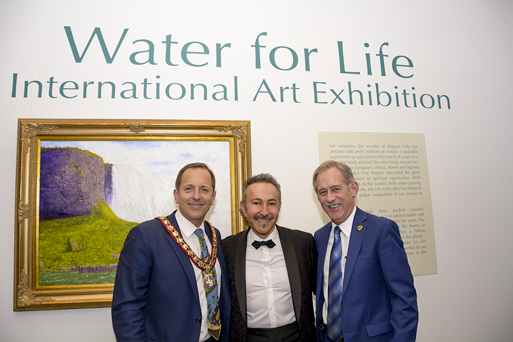 The Mayor of Niagara Falls, Jim Diodati, Antoine Gaber, and the Mayor of the town of Fort Erie, Wayne Redekop.