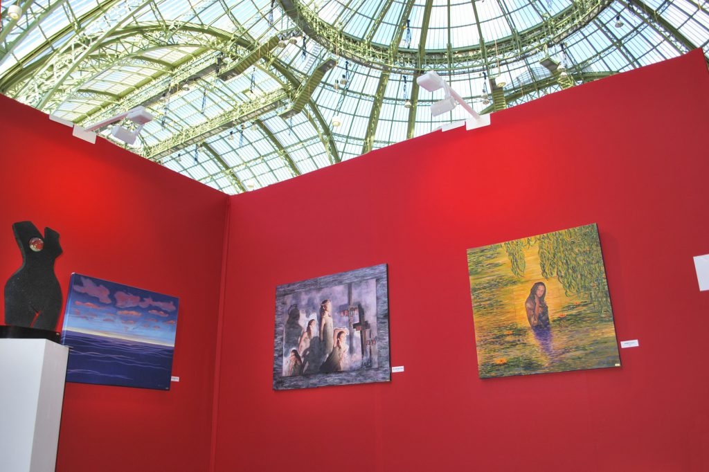 Antoine Gaber PASSION FOR LIFE fundraising Art Exhibition event was launched in Paris at the Grand Palais des Champs Elysées, in support of the Institut Curie.