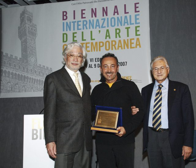 The Ambassador, and the Consul General of Mexico in Italy and Florence with Artist Antoine Gaber