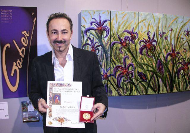 Antoine Gaber during the Florence Biennale