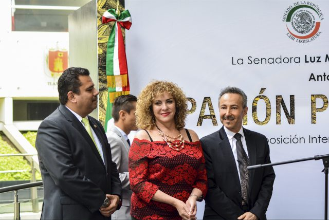 """The official opening ceremony of the Antoine Gaber, """" PASSION FOR LIFE """", International Solo Art Exhibition Mexico 2017, at the Senate of the Republic of Mexico, México City, México."""