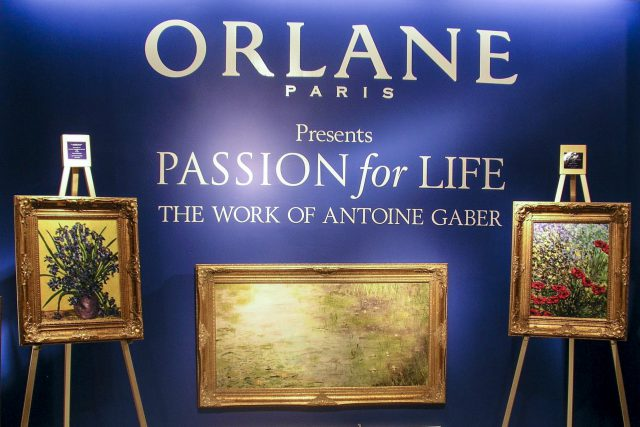 """Antoine Gaber Art Exhibiton at the Hudson Bay store in Toronto for the """"Passion for Life"""" Art Exhibition and fundraising Program across Canada."""