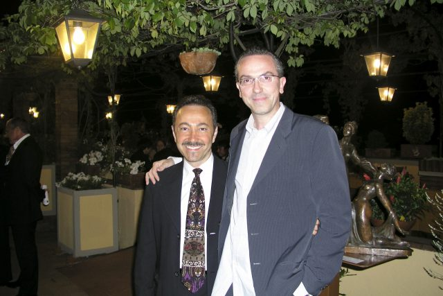 Antoine Gaber with Alessandro Masti famous Radio broadcaster for Radio Toscana Network and master of ceremonies for the evening Gala Opening event of