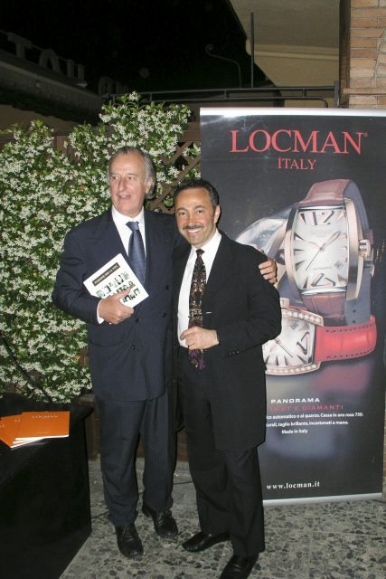 Antoine Gaber with Marco Paoletti, Head of External Affairs of Locman corporation, makers of the prestigious watches, also major Sponsor of the