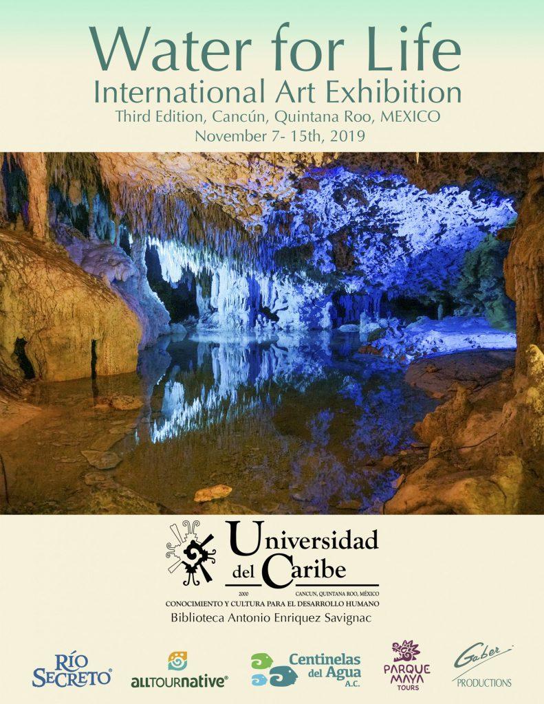 Water for Life, Exposición Internacional de Arte, Tercera Edición, Cancún, Quintana Roo, México. Páginas del catálogo.