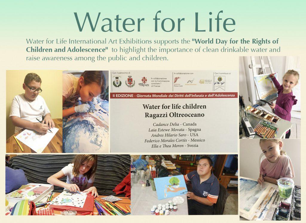 Water for Life, Exposición Internacional de Arte, Talleres de Arte Infantil y Adolescente, que se exponen en el Día Mundial de los Derechos de la Infancia y la Adolescencia, Florencia Italia.