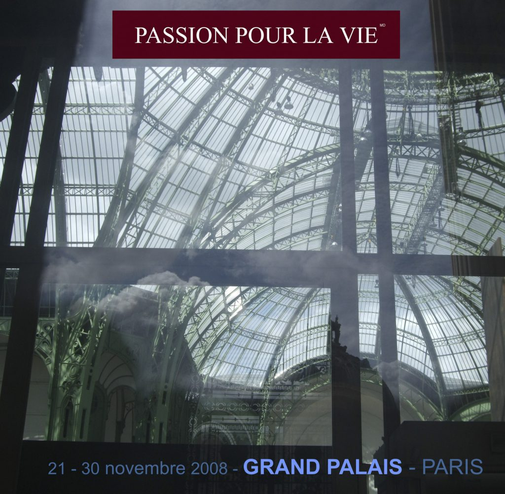 Antoine Gaber PASSION FOR LIFE fundraising Art Exhibition event was launched in Paris at the Grand Palais des Champs Elysées, in support of the Institut Curie. PASSION FOR LIFE art catalogue containing all participants