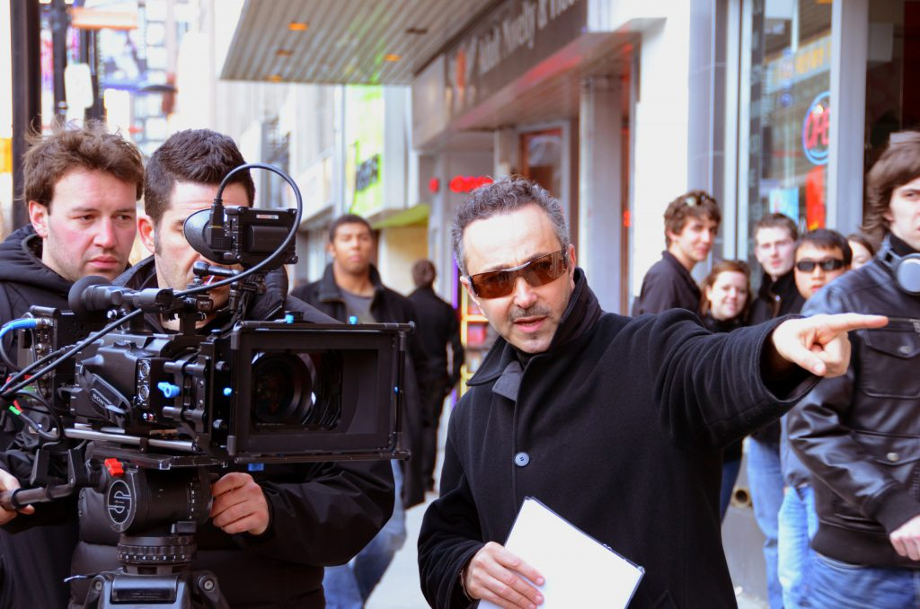 Antoine Gaber during the filming of his Documentary