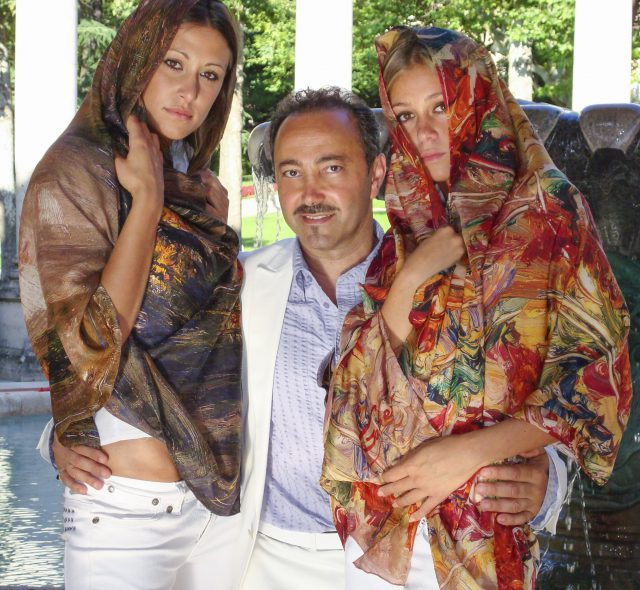 Some images of the making of the video reportage of Antoine Gaber's Passion for Life exhibition in Montecatini including Gaber's Fashion line was filmed with European models in the magnificent setting of Tuscany.