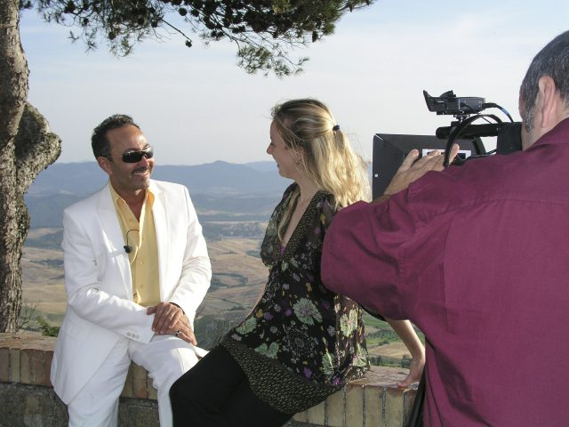 Some images of the making of the video reportage of Antoine Gaber's Passion for Life exhibition in Volterra.