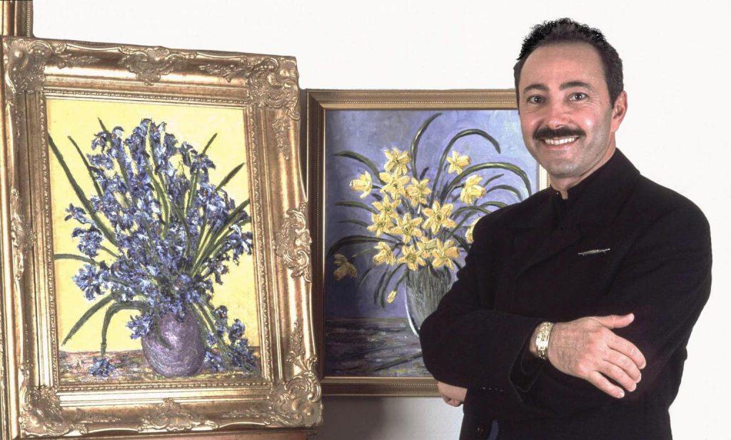 Antoine Gaber in his Studio
