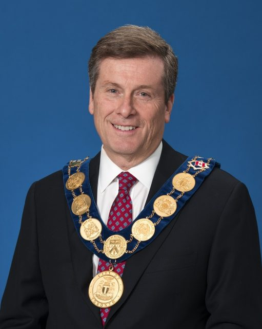His Worship John Tory Mayor of the city of Toronto