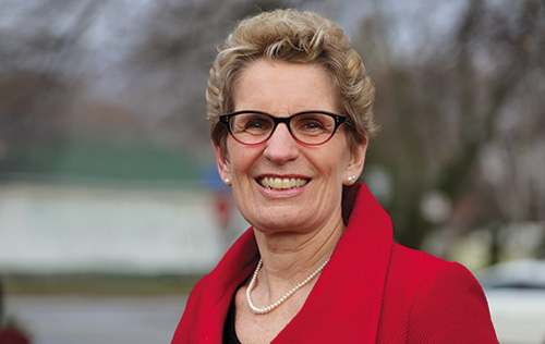 The Premier of the Province of Ontario, Ms. Kathleen Wynne
